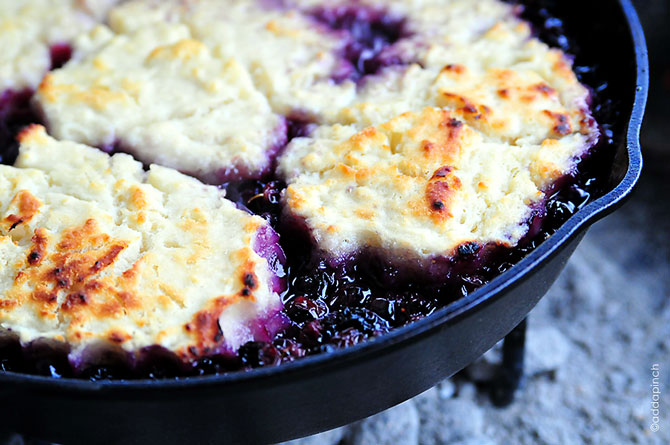 Blueberry Cobbler Recipe | ©addapinch.com