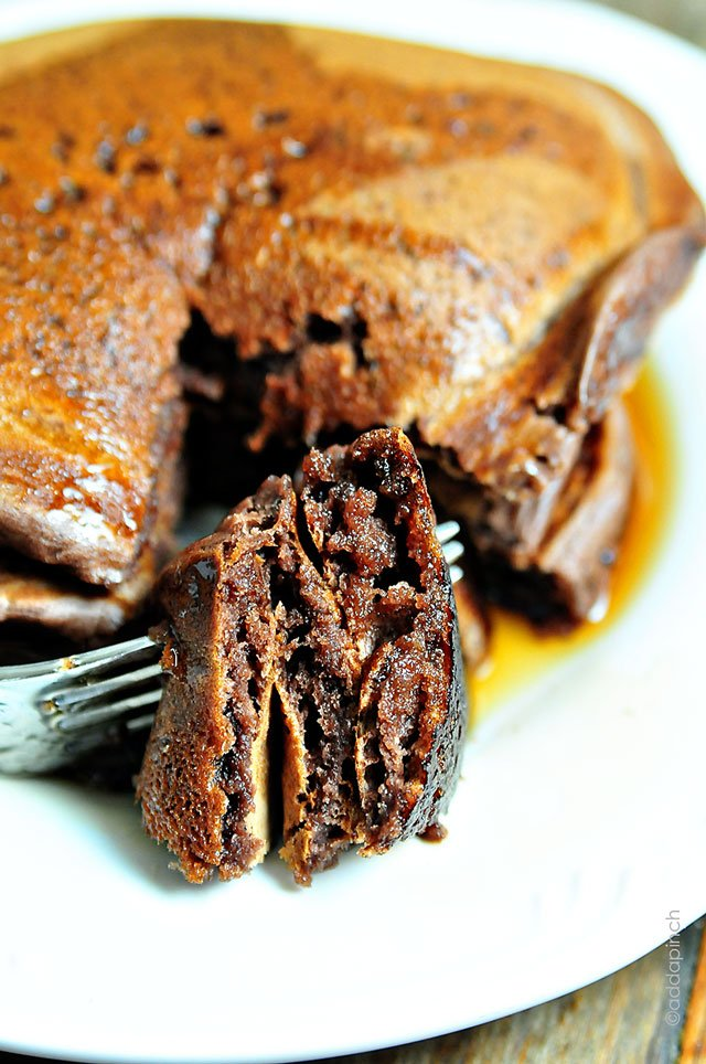 Chocolate Pancakes | ©addapinch.com
