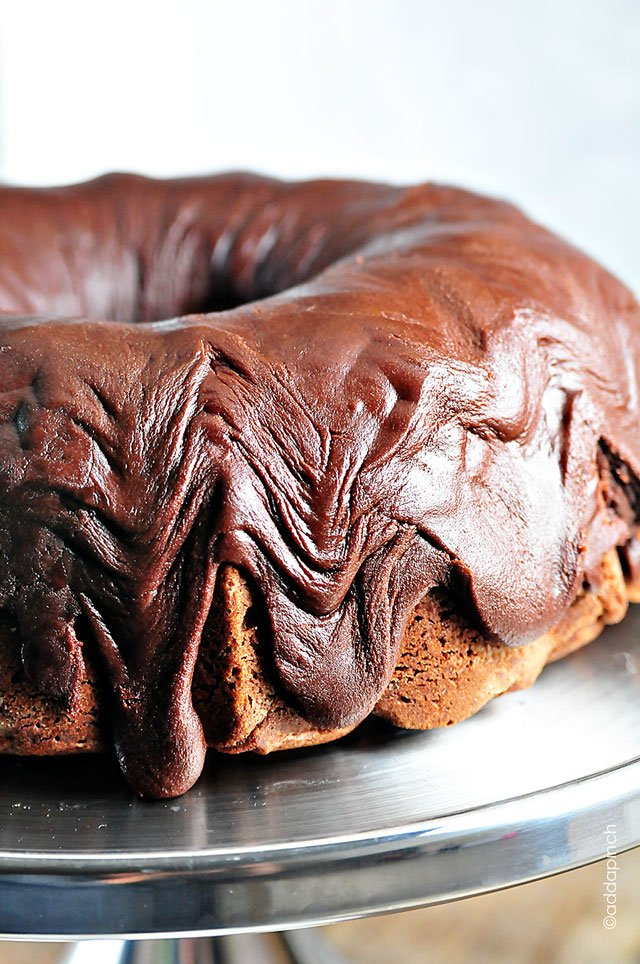 Chocolate Pound Cake With Fudge Icing