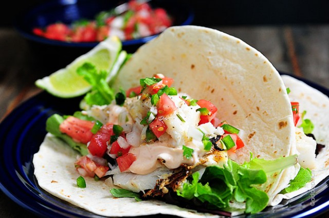 Fish Tacos Recipe | ©addapinch.com
