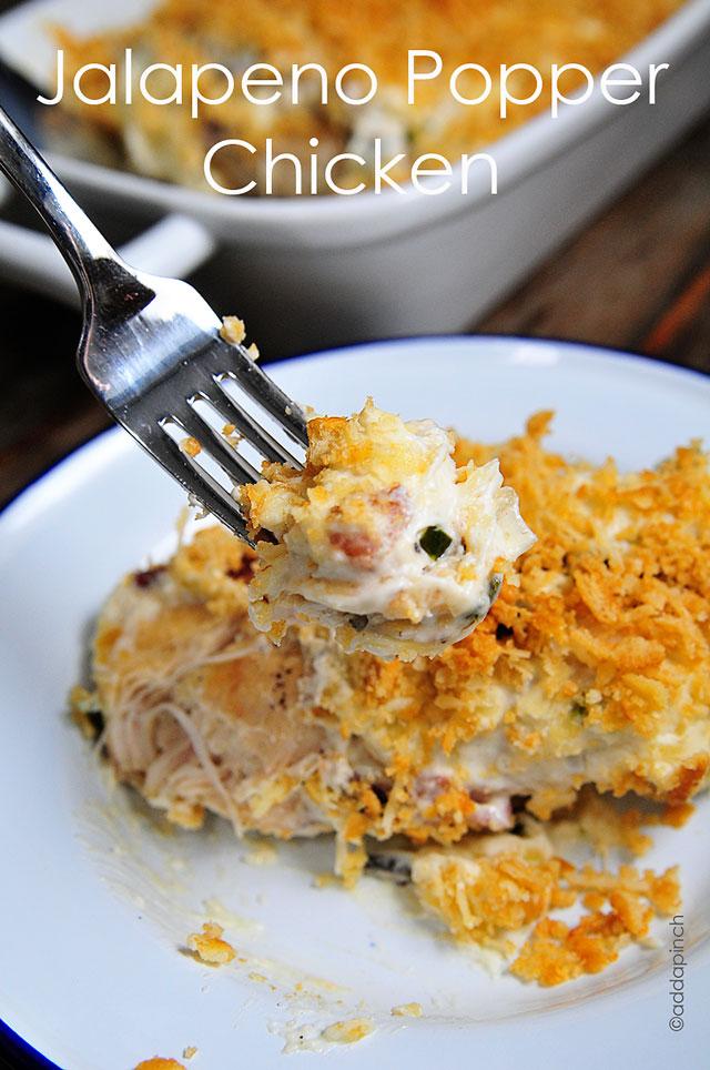 Jalapeno Popper Chicken Recipe |©addapinch.com