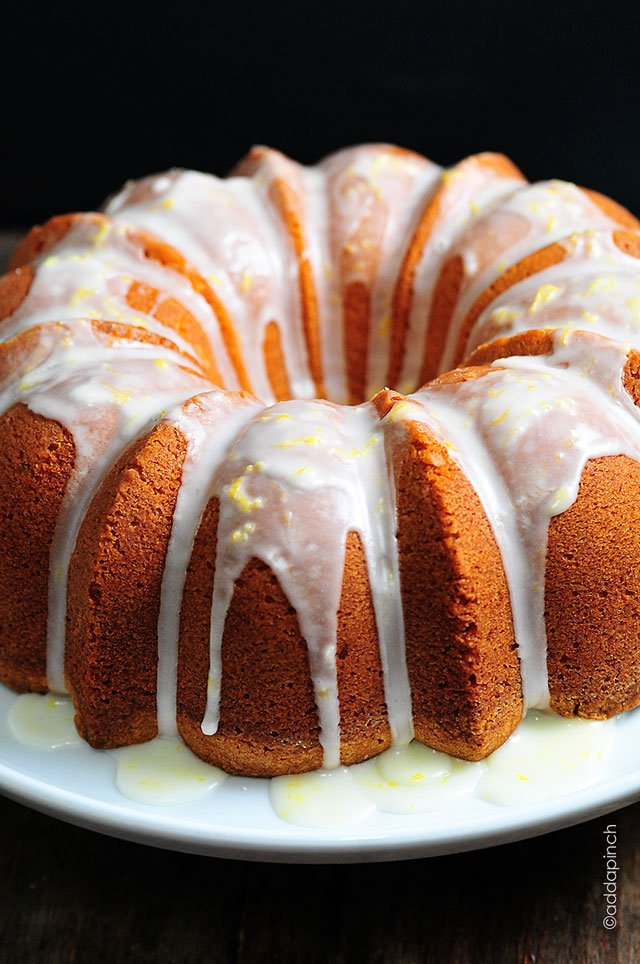 Lemon Pound Cake Recipe | ©addapinch.com