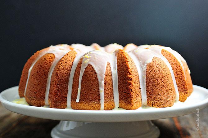 Golden yellow pound cake recipe