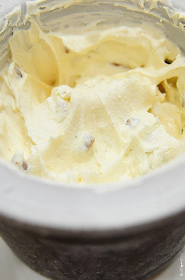 Butter Pecan Ice Cream Recipe | ©addapinch.com