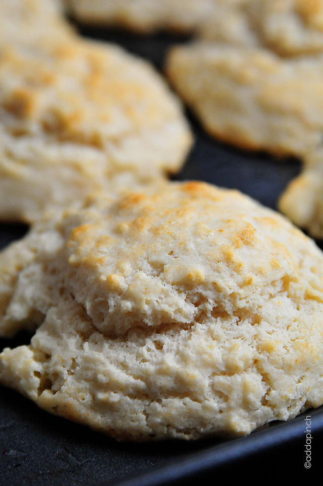 Buttermilk Drop Biscuits Recipe | ©addapinch.com