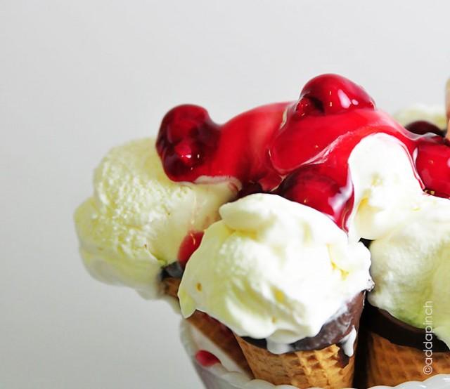 Cherry Cheesecake Ice Cream | ©addapinch.com
