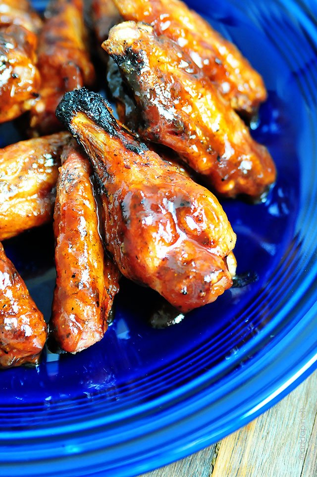 Peach BBQ Chicken Recipe | ©addapinch.com