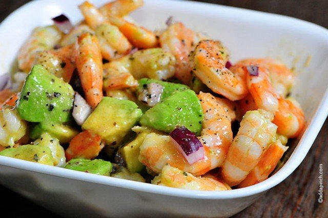 Shrimp Avocado Salad | ©addapinch.com
