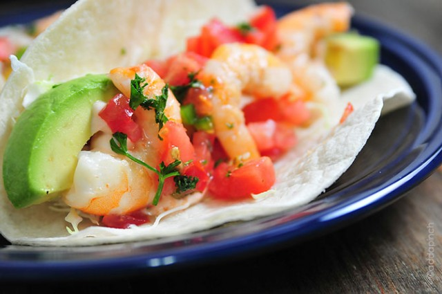 Shrimp Tacos Recipe | ©addapinch.com
