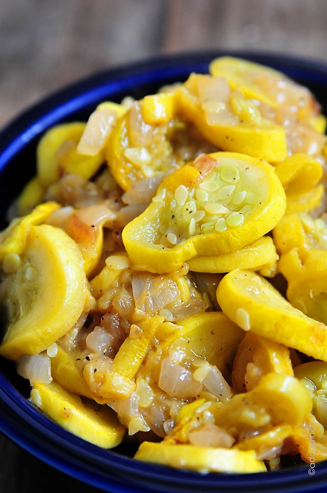 Squash and Onions Recipe | ©addapinch.com