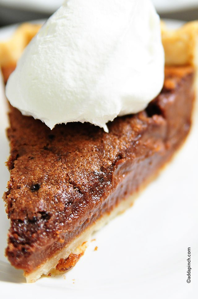 Chocolate Chess Pie Recipe | ©addapinch.com