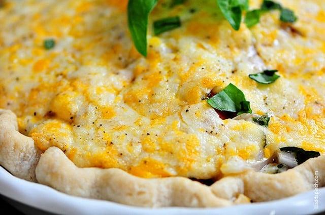 Tomato Pie Recipe | ©addapinch.com