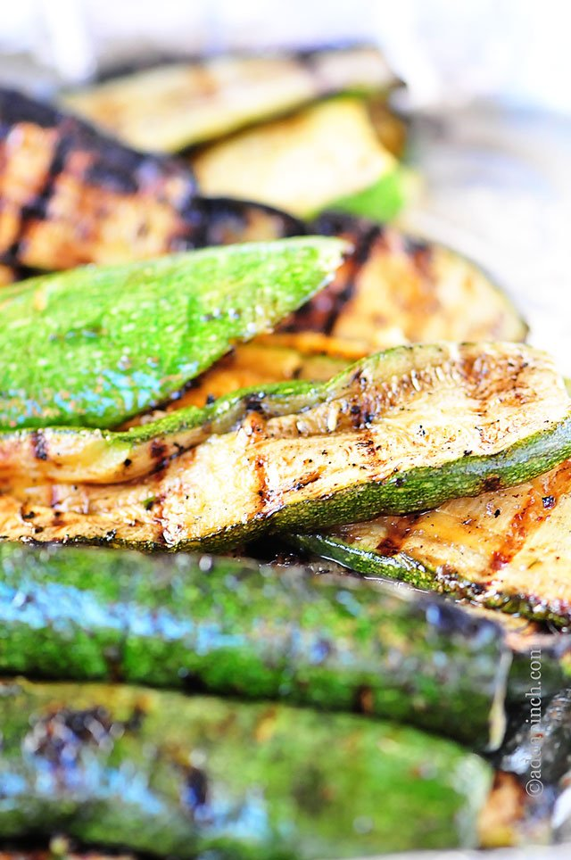 Grilled Zucchini Recipe | ©addapinch.com