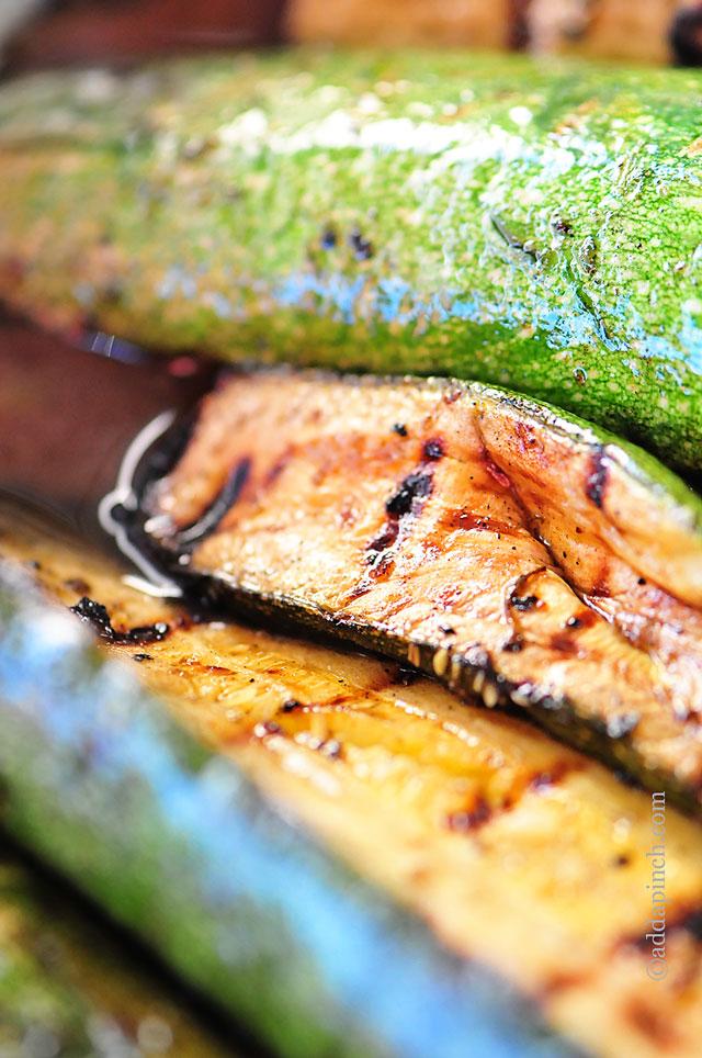 Grilled Zucchini Recipe | ©addapinch.com