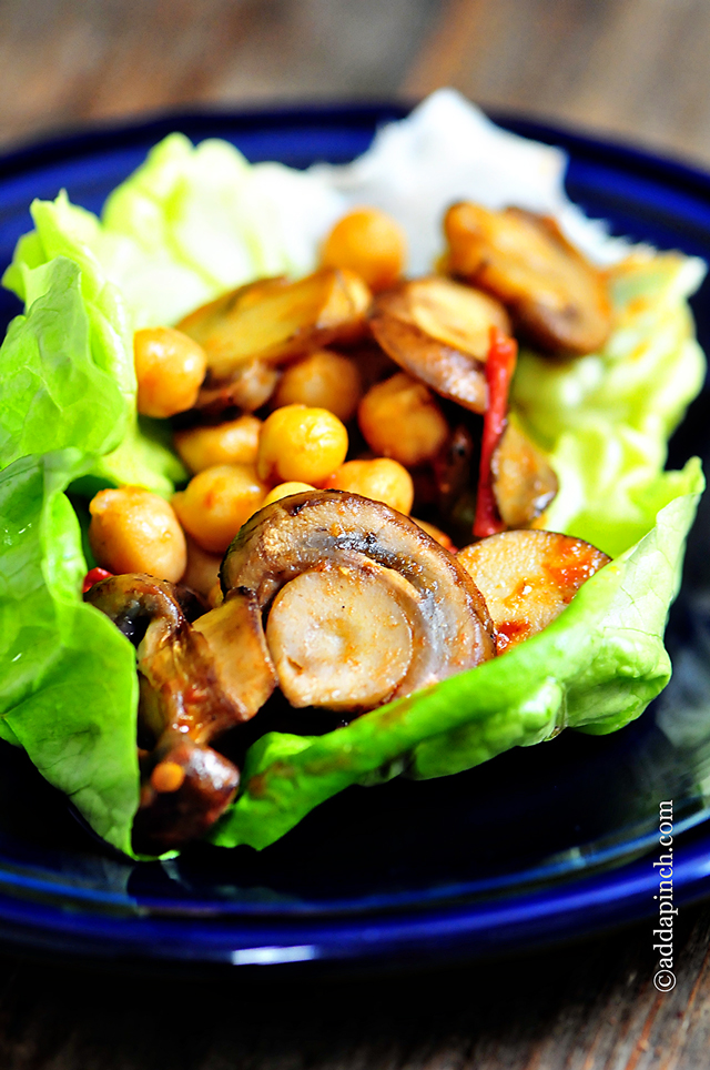 Mushroom Lettuce Wraps Recipe   ©addapinch.com
