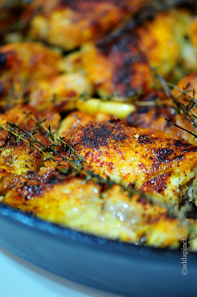 Skillet Roasted Chicken Recipe Add A Pinch