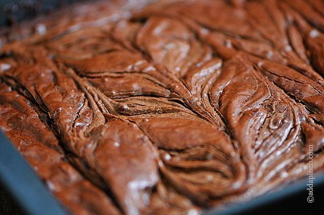 Brownies Nutella Swirl | ©addapinch.com