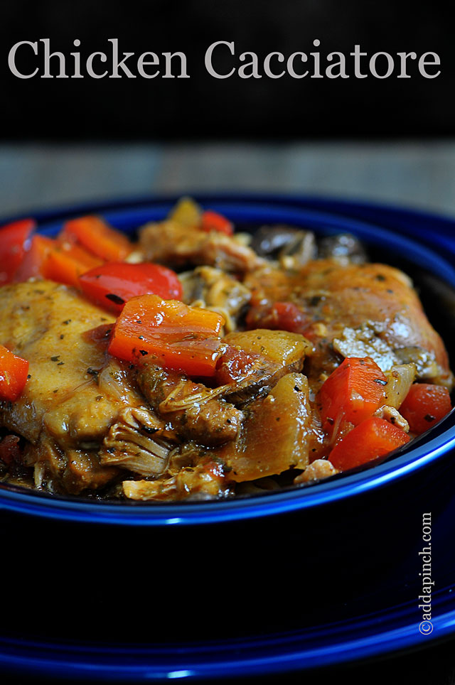 Chicken Cacciatore Recipe | ©addapinch.com