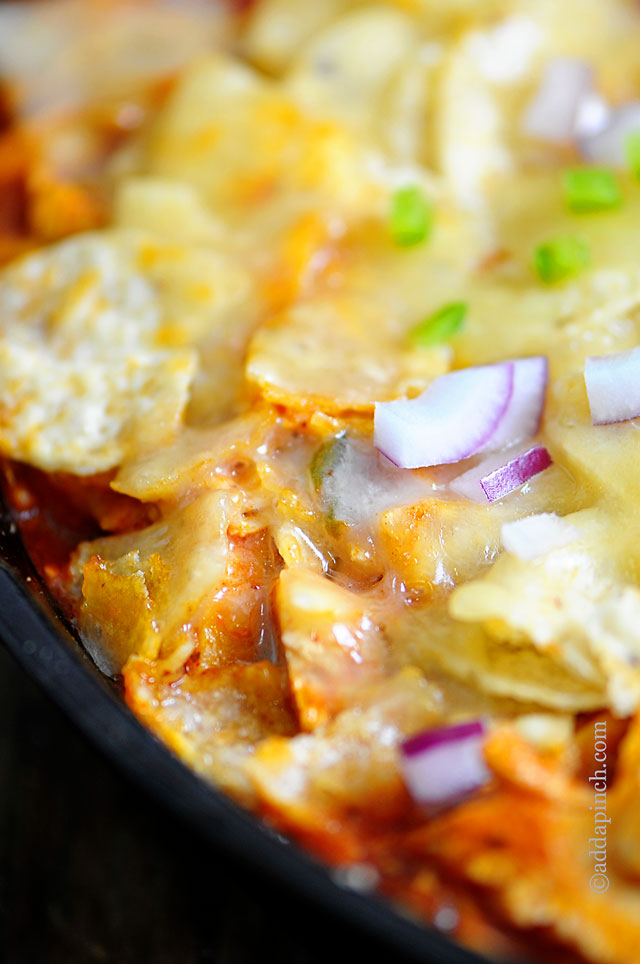 Chicken Enchilada Skillet Recipe | ©addapinch.com