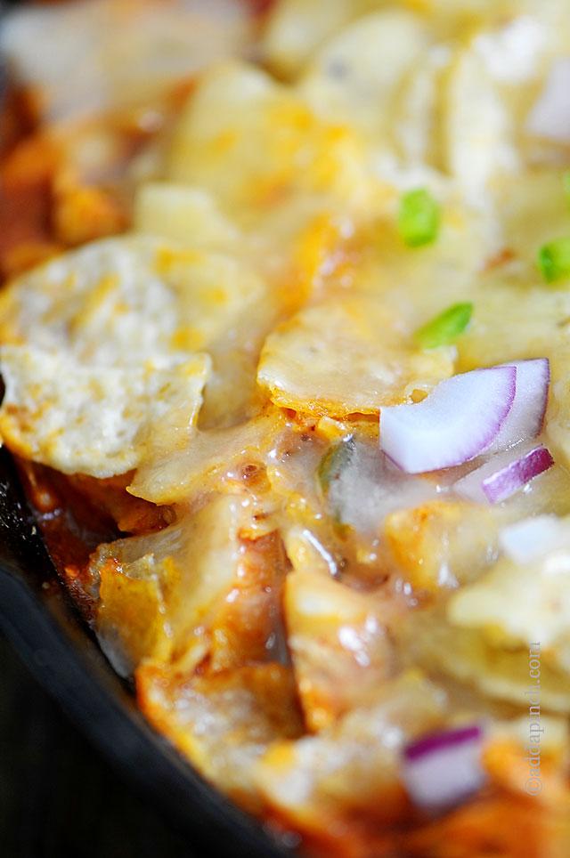 Chicken Enchilada Skillet Recipe | ©addapinch.com