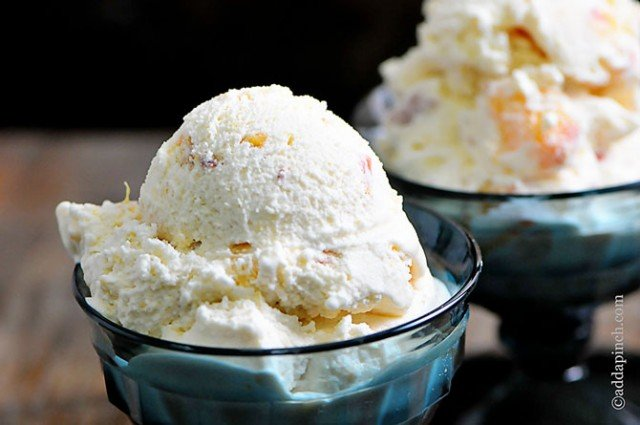 Peach Ice Cream Recipe | ©addapinch.com