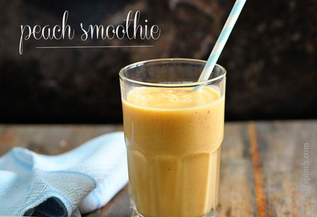 Peach Smoothie | ©addapinch.com