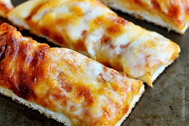 Cheesy Pizza Sticks | ©addapinch.com