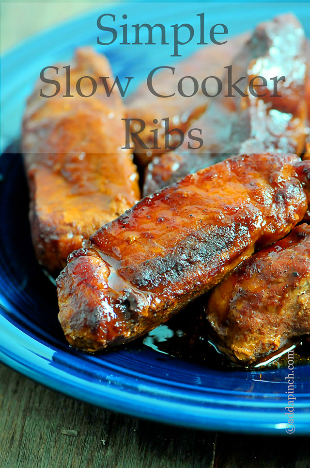 Slow Cooker Ribs | ©addapinch.com