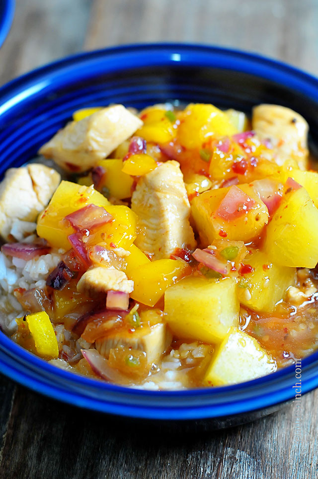 Sweet and Sour Chicken Recipe | ©addapinch.com