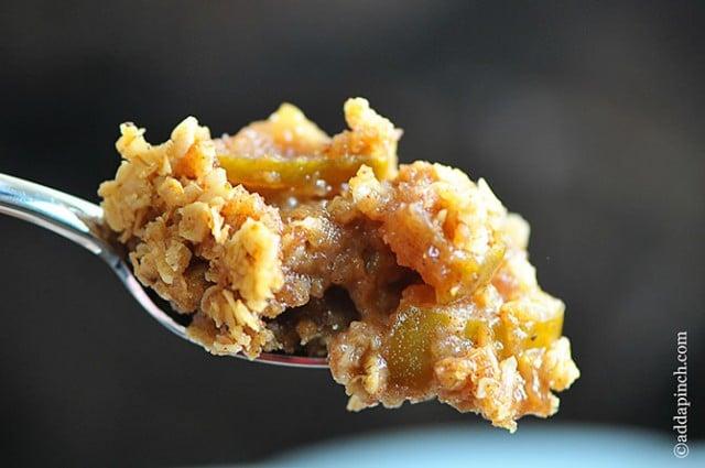 Apple Crisp Recipe   ©addapinch.com