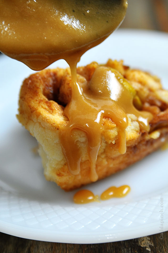 Caramel Apple Biscuit Rolls | ©addapinch.com