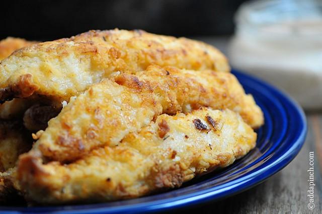 Chicken Strips Recipe | ©addapinch.com