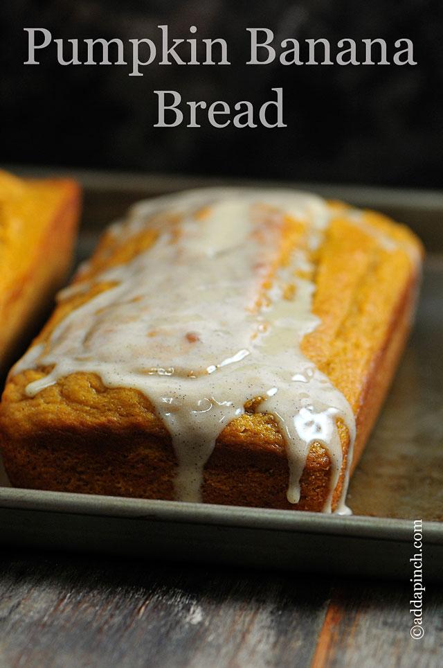 Pumpkin Banana Bread Recipe | ©addapinch.com