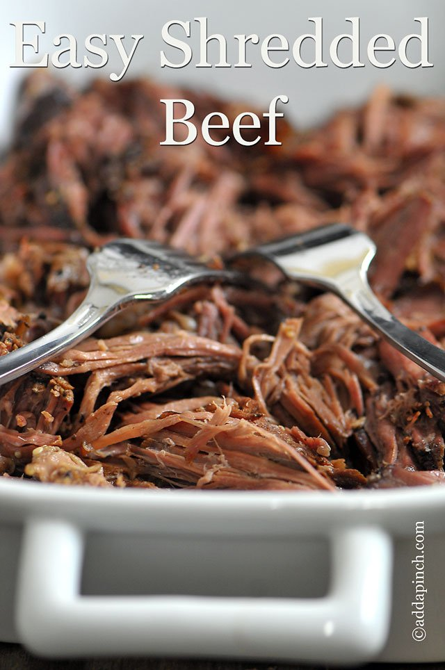Slow Cooker Shredded Beef Recipe Add A Pinch