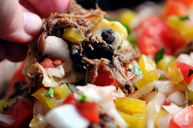 Shredded Beef Nachos Recipe | ©addapinch.com