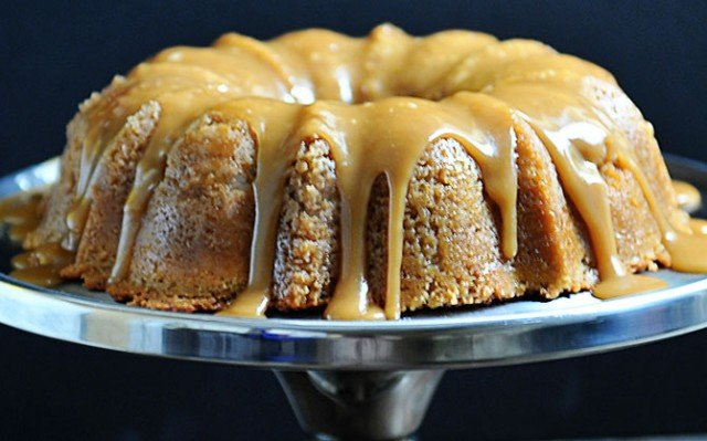 Brown Sugar Bundt Cake Recipe | ©addapinch.com