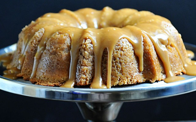 Brown Sugar Bundt Cake Recipe | ©addapinch.com