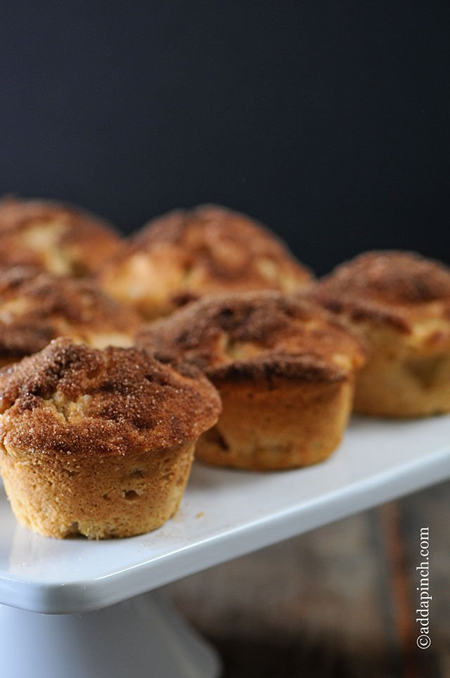 Cinnamon Apple Muffins Recipe | ©addapinch.com