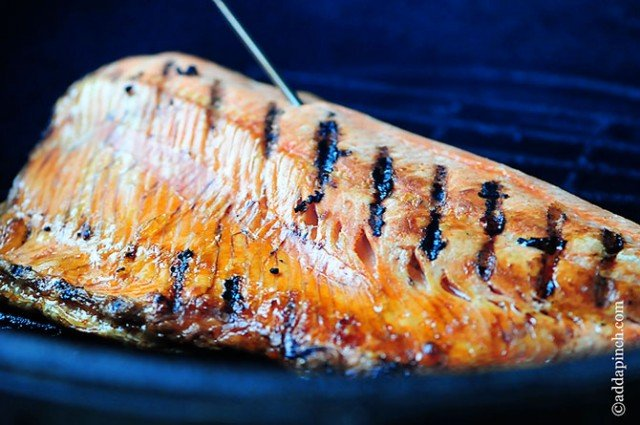 Grilled Salmon Recipe | ©addapinch.com