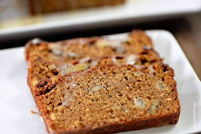 Pear Walnut Bread | ©addapinch.com
