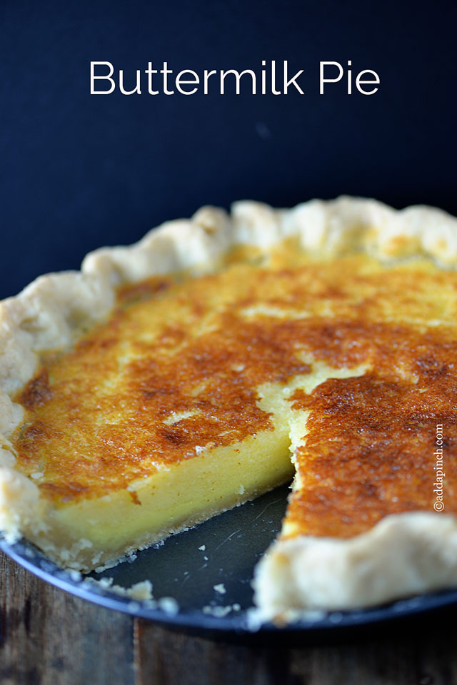 Similar in texture to a Chess Pie, the Buttermilk Pie uses simple ...