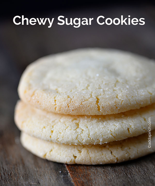 Chewy Sugar Cookies Recipe | ©addapinch.com