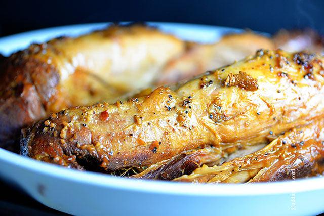 Honey Soy Pork Tenderloin Recipe | ©addapinch.com