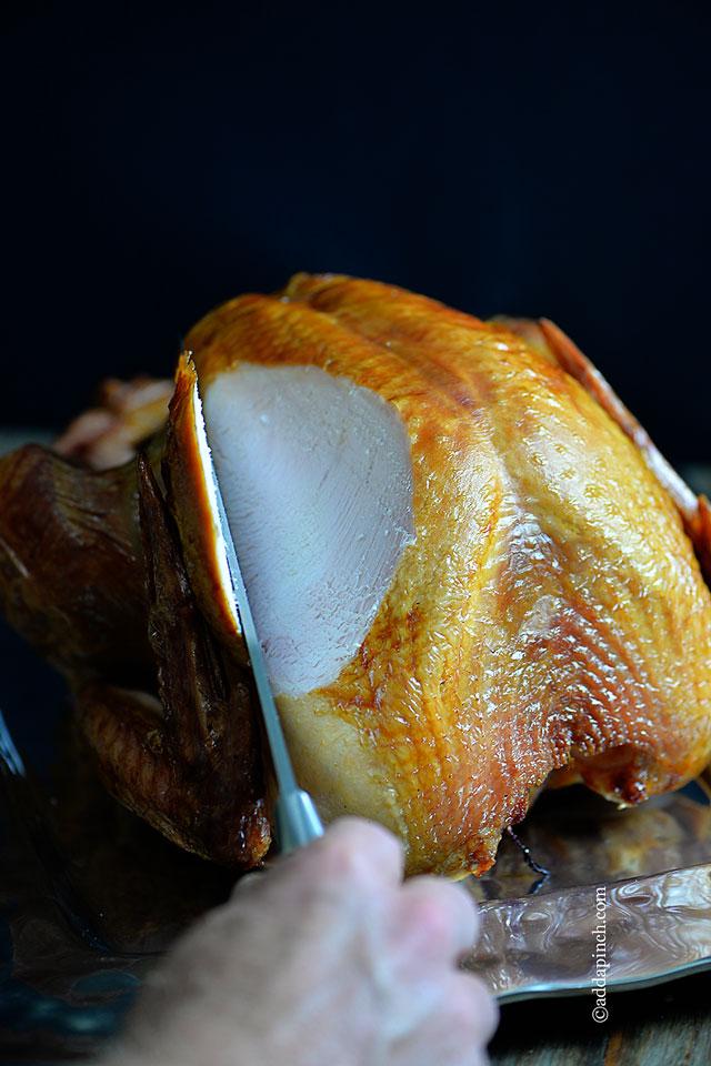 Smoked Turkey Recipe | ©addapinch.com