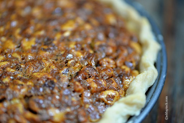 Toffee Pecan Pie | ©addapinch.com