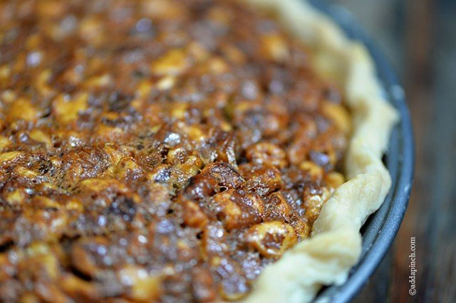 Toffee Pecan Pie   ©addapinch.com