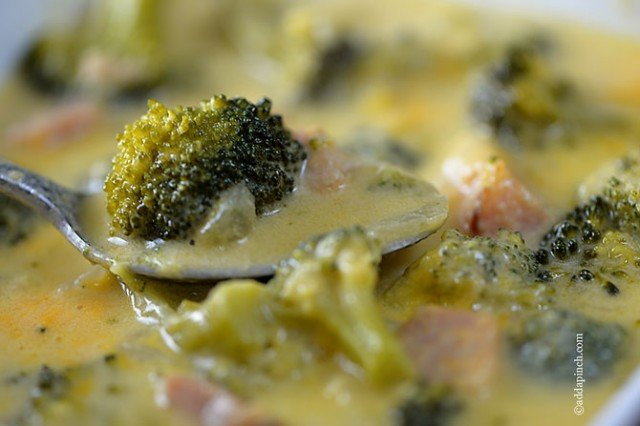 Broccoli Cheese Soup | ©addapinch.com