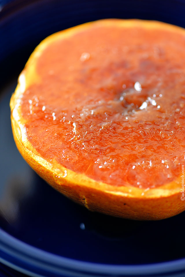 Broiled Grapefruit | ©addapinch.com