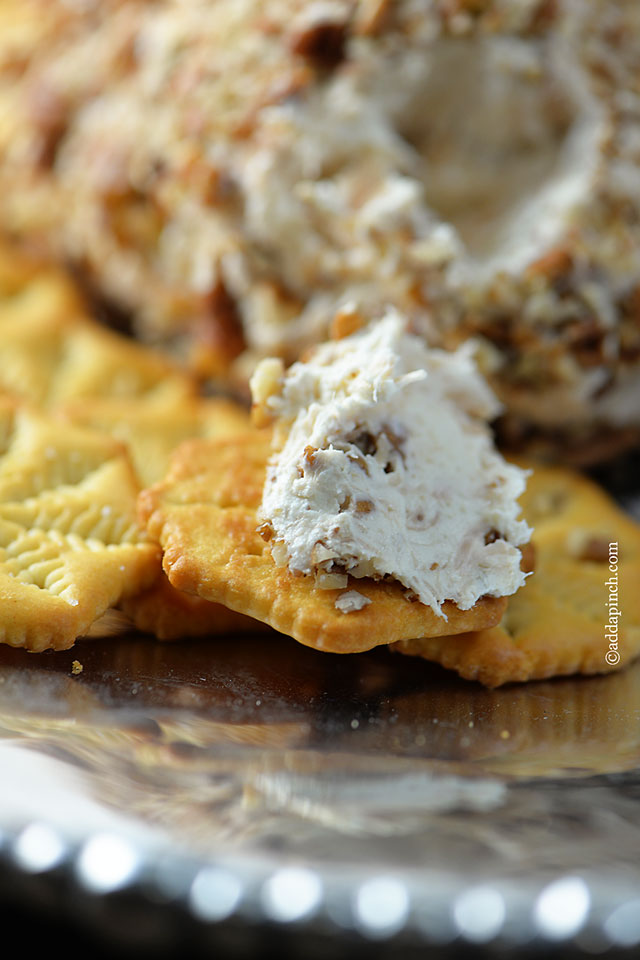 Chicken Cheese Ball | ©addapinch.com