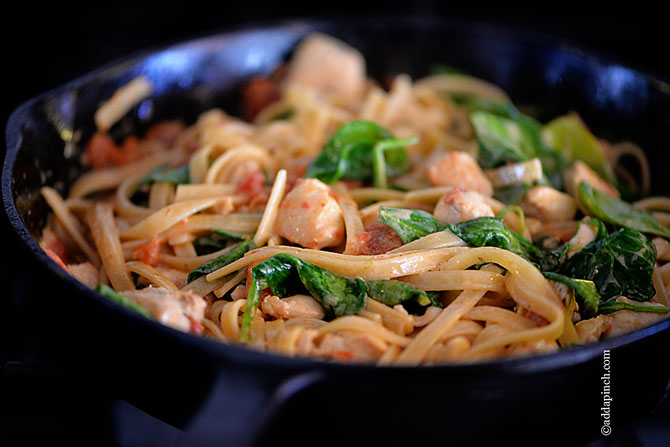 Chicken Pasta with Roasted Red Pepper Cream Sauce Recipe ...